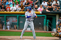 Joey Gallo (13) of the Round Rock Express at bat against the Salt Lake Bees in Pacific Coast League action at Smith's Ballpark on August 15, 2016 in Salt Lake City, Utah. Round Rock defeated Salt Lake 5-4.  (Stephen Smith/Four Seam Images)