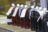 wine sample bottles mas du notaire rhone france
