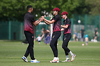 Q Daniel of Fives celebrates with his team mates after taking the wicket of P Gupta during Upminster CC vs Fives & Heronians CC, Hamro Foundation Essex League Cricket at Upminster Park on 5th June 2021