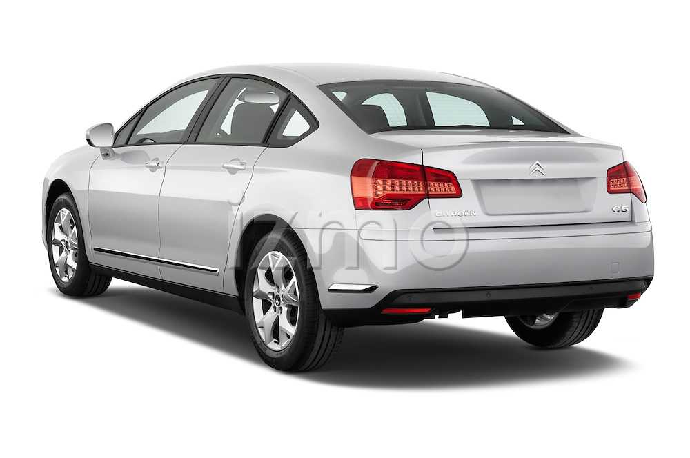 Rear three quarter view of a 2010 Citroen C5 Confort 4 Door Sedan 2WD