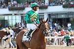 August 02 2015: Casual Smile with Abel Castellano Jr. win the Grade III Winstar Matchmaker Stakes for fillies & mares, 3-year olds & up, going 1 1/8 mile on the turf at Monmouth Park.  Trainer Chad Brown. Owner William Farrish. Sue Kawczynski/ESW/CSM