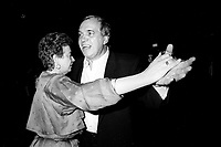 Montreal (Qc) CANADA - 1987 File Photo - - New Democratic Party (NDP) Convention  - - Ed Broadbent and wife<br /> <br /> PHOTO :  Agence Quebec Presse
