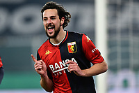 Mattia Destro of Genoa CFC celebrates after scoring the goal of 2-0 during the Serie A football match between Genoa CFC and Bologna FC at Marassi Stadium in Genova (Italy), January 10th, 2021. Photo Daniele Buffa / Image Sport / Insidefoto