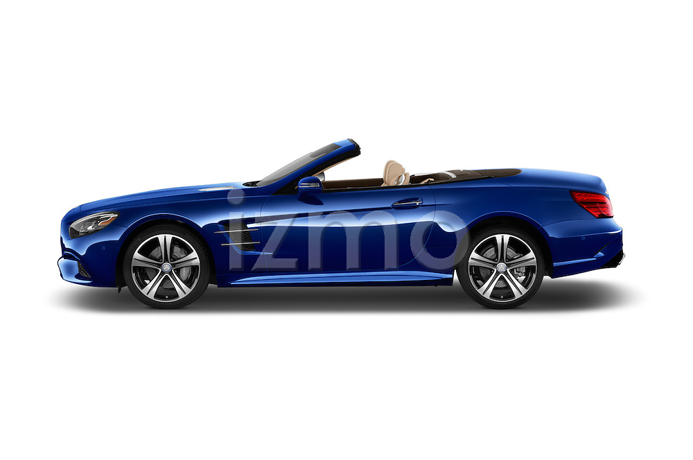 Car Driver side profile view of a 2017 Mercedes Benz SL-Class SL450 2 Door Convertible Side View