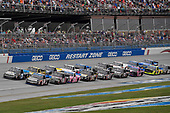 NASCAR Camping World Truck Series<br /> Fred's 250<br /> Talladega Superspeedway<br /> Talladega, AL USA<br /> Saturday 14 October 2017<br /> Christopher Bell, Toyota Toyota Tundra and Parker Kligerman, Food Country USA / Lopez Wealth Management/Tide Pods Toyota Tundra<br /> World Copyright: Rusty Jarrett<br /> LAT Images