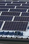 Solar-Panels auf dem Dach von Marxer Metallbau in Mauren-Schaanwald. Foto: Paul Trummer / Mauren.