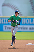Hartford Yard Goats Michael Toglia (55) rounds the bases after hitting a home run during a game against the Somerset Patriots on September 12, 2021 at TD Bank Ballpark in Bridgewater, New Jersey.  (Mike Janes/Four Seam Images)