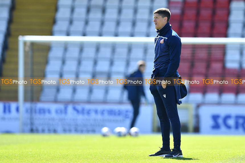 Stevenage FC Manager Alex Revell during Stevenage vs Bradford City, Sky Bet EFL League 2 Football at the Lamex Stadium on 5th April 2021