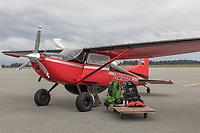Yakutat Coastal Air bush plane for landing on beaches along the coast.