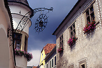 Austria, Durnstein, The Danube Valley, Wachau, The village of Durnstein