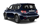 Car pictures of rear three quarter view of a 2019 Nissan Armada SL 5 Door SUV angular rear
