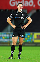 Owen Watkin of the Ospreys in action during the Guinness PRO14 match between Ospreys and Dragons at The Liberty Stadium, Swansea, Wales, UK. Friday 27 October 2017