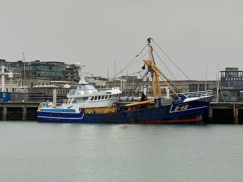 The Jasmine alongside at Dun Laoghaire