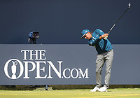 160719 | The 148th Open - Tuesday Practice<br /> <br /> Rickie Fowler of USA on the first tee during practice for the 148th Open Championship at Royal Portrush Golf Club, County Antrim, Northern Ireland. Photo by John Dickson - DICKSONDIGITAL