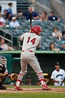 May 1 2010: Matt Carpenter (14) of the Palm Beach Cardinals during a game vs. the Jupiter Hammerheads at Roger Dean Stadium in Jupiter, Florida. Palm Beach, the Florida State League High-A affiliate of the St. Louis Cardnials, won the game against Jupiter, affiliate of the Florida MArlins, by the score of 5-4  Photo By Scott Jontes/Four Seam Images
