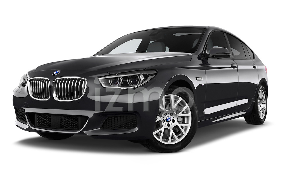 Stock pictures of low aggressive front three quarter view of a 2015 BMW SERIES 5 M Sport 2WD AT 5 Door Hatchback 2WD Low Aggressive