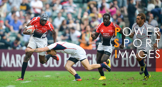 Action on Day 3 of the 2012 Cathay Pacific / HSBC Hong Kong Sevens at the Hong Kong Stadium in Hong Kong, China on 25th March 2012. Photo © Victor Fraile  / The Power of Sport Images