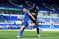 13th September 2020; Portman Road, Ipswich, Suffolk, England, English League One Footballl, Ipswich Town versus Wigan Athletic; Freddie Sears of Ipswich Town under pressure from Emeka Obi of Wigan Athletic