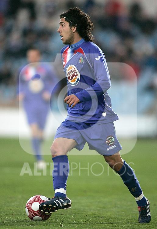 Getafe's Daniel Parejo during La Liga match. March 11, 2010. (ALTERPHOTOS/Alvaro Hernandez)