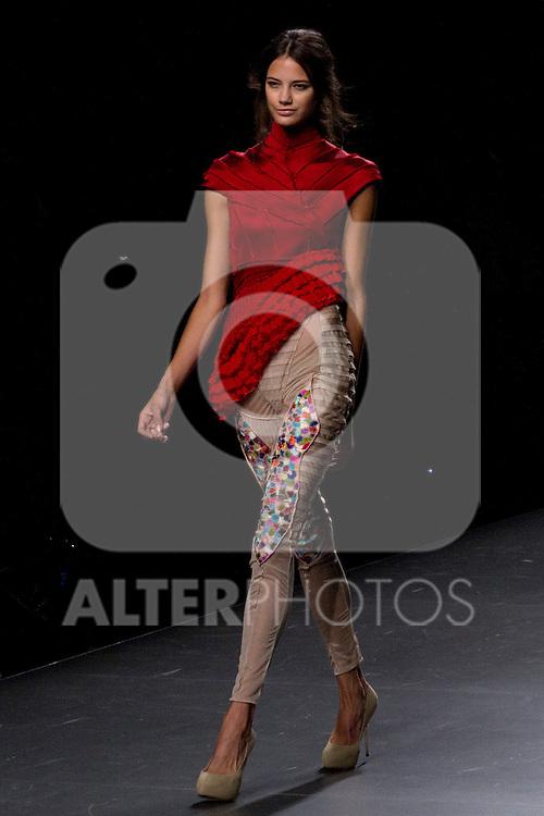 03.09.2012. Models walk the runway in the Ana Balboa fashion show during the EGO Mercedes-Benz Fashion Week Madrid Spring/Summer 2013 at Ifema. (Alterphotos/Marta Gonzalez)
