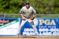 Michigan Wolverines infielder Jacob Croneworth #2 during an exhibition game against the New York Mets at Tradition Field on February 24, 2013 in St. Lucie, Florida.  New York defeated Michigan 5-2.  (Mike Janes/Four Seam Images)
