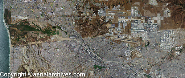 aerial photo map of the Mexican American border Tijuana Mexico
