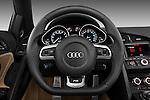Steering wheel view of a 2010 - 2012 Audi R8 Spyder v10 2 Door Convertible.