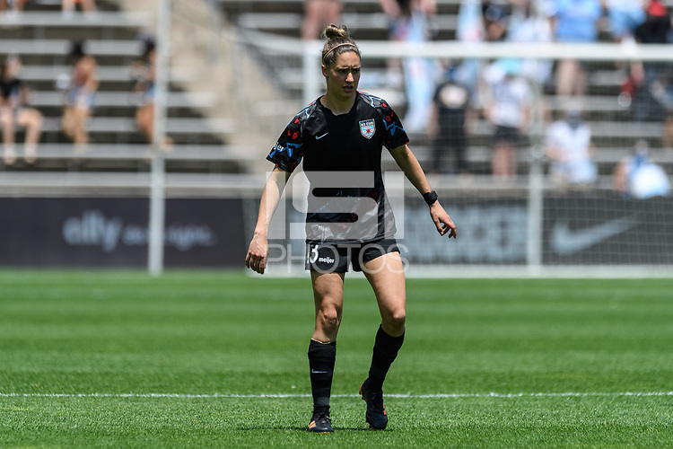 BRIDGEVIEW, IL - JUNE 5: Morgan Gautrat #13 of the Chicago Red Stars looks on during a game between North Carolina Courage and Chicago Red Stars at SeatGeek Stadium on June 5, 2021 in Bridgeview, Illinois.
