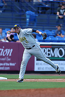 John Lorenz #6 of the Michigan Wolverines vs the New York Mets in an exhibition game at Digital Domain Ballpark in Port St Lucie, Florida;  February 27, 2011.  New York defeated Michigan 7-1.  Photo By Mike Janes/Four Seam Images