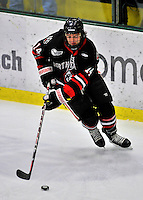 28 January 2012: Northeastern University Huskies' forward Braden Pimm, a Sophomore from Fort St. John, British Columbia, in action against the University of Vermont Catamounts at Gutterson Fieldhouse in Burlington, Vermont. The Huskies defeated the Catamounts 4-2 in the second game of their 2-game Hockey East weekend series. Mandatory Credit: Ed Wolfstein Photo