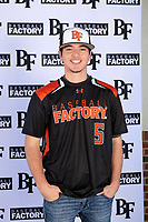 Joseph Freitas (5) of Mariposa County High School in La Grange, California during the Baseball Factory All-America Pre-Season Tournament, powered by Under Armour, on January 12, 2018 at Sloan Park Complex in Mesa, Arizona.  (Mike Janes/Four Seam Images)
