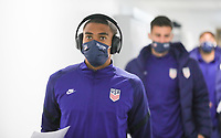 WIENER NEUSTADT, AUSTRIA - NOVEMBER 16: Reggie Cannon #20 of the United States before a game between Panama and USMNT at Stadion Wiener Neustadt on November 16, 2020 in Wiener Neustadt, Austria.