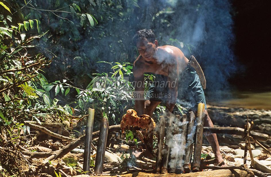 Asie/Malaisie/Bornéo/Sarawak: Chez les Dayak: La cuisine de la jungle