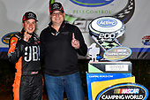 2017 NASCAR Camping World Truck Series - Active Pest Control 200<br /> Atlanta Motor Speedway, Hampton, GA USA<br /> Saturday 4 March 2017<br /> Christopher Bell and Toyota Racing's Ed Laukes in victory lane<br /> World Copyright: Nigel Kinrade/LAT Images