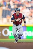 Kyle Roller (23) of the Scranton/Wilkes-Barre RailRiders takes off for third base during the game against the Durham Bulls at Durham Bulls Athletic Park on May 15, 2015 in Durham, North Carolina.  The RailRiders defeated the Bulls 8-4 in 11 innings.  (Brian Westerholt/Four Seam Images)