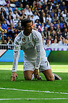 Real Madrid´s Cristiano Ronaldo during 2014-15 La Liga match between Real Madrid and Eibar at Santiago Bernabeu stadium in Madrid, Spain. April 11, 2015. (ALTERPHOTOS/Luis Fernandez)