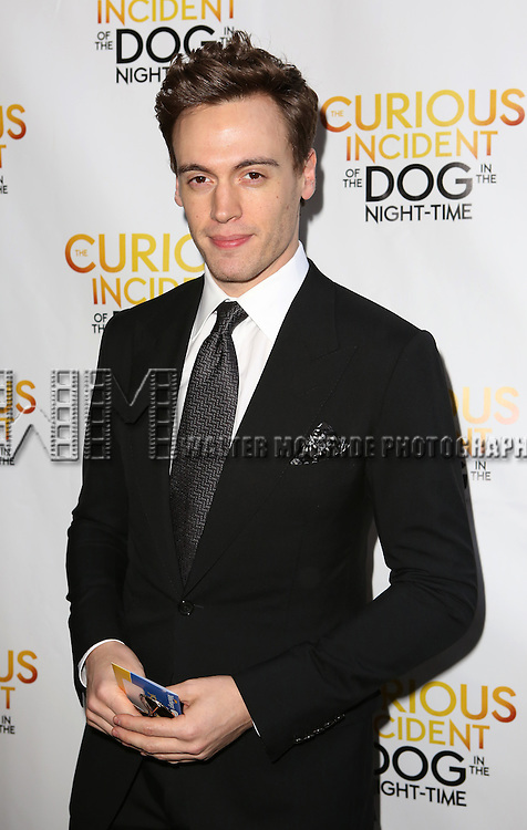 Erich Bergen attends the Broadway Opening Night Performance of 'The Curious Incident of the Dog in the Night-Time'  at the Barrymore Theatre on October 5, 2014 in New York City.