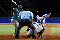 MONTERIA - COLOMBIA, 20-11-2019: Vaqueros de Montería y Leones de Santa Marta en el juego 3 de la serie 3 de la Liga Profesional de Béisbol Colombiano temporada 2019-2020 jugado en el estadio estadio Dieciocho de Junio de la ciudad de Montería. Victoria para Vaqueros por marcador de 2-13. / Vaqueros de Monteria and Leones de Santa Marta in match 3 series 3 as part Colombian Baseball Professional League season 2019-2020 played at Baseball Stadium on June 18 in Monteria city. Victory to Vaqueros by score of 2-13, Photo: VizzorImage / Andres Felipe Lopez / Cont