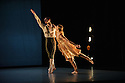 """Alston Dance Company presents """"An Italian In Madrid"""" at Sadler's Wells. choreographed by Richard Alston, lighting design by Karl Oskar Sordal, costume design by Fotini Dimou. Picture shows: Nicholas Bodych, Elly Braund"""