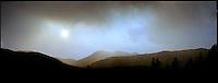 Sun through fire smoke<br />