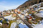 Drohnenaufnahme: Planken im Winter, Liechtenstein.<br /> <br /> Foto: ©Paul J. Trummer