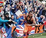 19.05.2019 Kilmarnock v Rangers: Rangers fan with Alfredo Morelos' match shirt