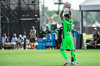 LAKE BUENA VISTA, FL - JULY 13: Quentin Westberg #16 of Toronto FC makes a save during a game between D.C. United and Toronto FC at Wide World of Sports on July 13, 2020 in Lake Buena Vista, Florida.