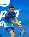 September  12, 2021:   Novak Djokovic (SRB) loses to Daniil Medvedev (RUS), 6-4, 6-4, 6-4 at the US Open being played at Billie Jean King National Tennis Center in Flushing, Queens, New York, {USA} ©Jo Becktold/Tennisclix/CSM