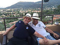 """Pictured: Graeme Prance (L)<br /> Re: A Welsh rugby fan dishonestly helped himself to £60,000 from the bank accounts of a close friend he met through their """"shared love of the game"""", is due to be sentenced by Cardiff Crown Court.<br /> Graeme Prance, 53,  claims he became """"like a son"""" to retired businessman Ken Elliott during their 35-year friendship watching rugby together.<br /> A jury heard Mr Elliott gave Prance Power of Attorney when he became ill and changed his will so his friend would inherit his £212,000 house in Cyncoed, Cardiff."""