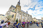 The peloton ride through Bonneval during Paris-Tours 2020, running 213km from Chartres to Tours, France. 11th October 2020.<br /> Picture: ASO/Gautier Demouveaux | Cyclefile<br /> All photos usage must carry mandatory copyright credit (© Cyclefile | ASO/Gautier Demouveaux)