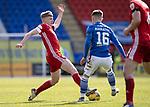 St Johnstone v Aberdeen…10.04.21   McDiarmid Park   SPFL<br />Jack MacKenzie tackles Glenn Middleton<br />Picture by Graeme Hart.<br />Copyright Perthshire Picture Agency<br />Tel: 01738 623350  Mobile: 07990 594431