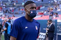 DENVER, CO - JUNE 3: Jordan Siebatcheu of the United States during a game between Honduras and USMNT at EMPOWER FIELD AT MILE HIGH on June 3, 2021 in Denver, Colorado.