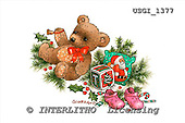 GIORDANO, CHRISTMAS ANIMALS, WEIHNACHTEN TIERE, NAVIDAD ANIMALES, Teddies, paintings+++++,USGI1377,#XA#