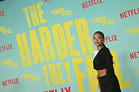 LOS ANGELES, CA - OCTOBER 13: Karrueche Tran at the Special Screening Of The Harder They Fall at The Shrine in Los Angeles, California on October 13, 2021. Credit: Faye Sadou/MediaPunch